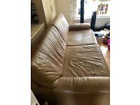 Brown / Tan Leather Sofa - FREE