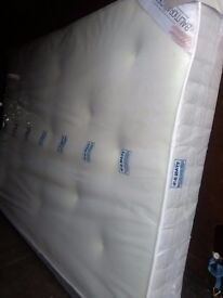 10 inch thick Balmoral Mattress. 4FT6 double. Memory foam topped. Free delivery
