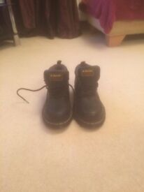 Size 5 black steel toe dr Martens ankle boot