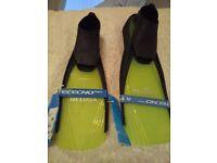 Tecno Pro diving flippers yellow/black