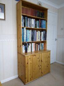 Pine Dining Room Display Cabinet.