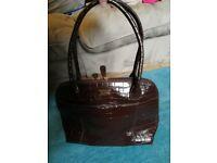 Osprey London brown handbag - crocodile design