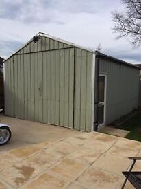 20ft long metal shed storage