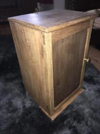 Antique pine bathroom wall cabinet