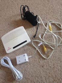 Plusnet router and cables used