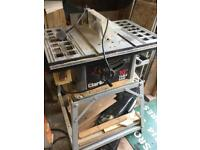 Clarke 10inch table saw, with stand
