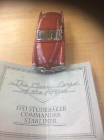 Franklin Mint unboxed 1.43 Scale 1953 Studebaker Commander Starliner with certificate