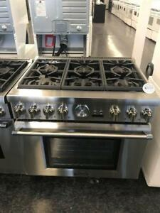 THERMADOR 36'' INCH PROFESSIONAL GAS DUAL FUEL RANGE ON SALE