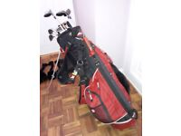 Wilson Pro Staff Golf Clubs and Wilson Bag with Tripod Stand etc