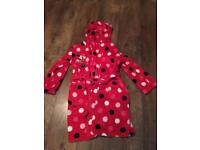 Lovely girls Minnie Mouse dressing gown age 7-8