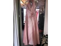Dusky pink - taffeta- long dress