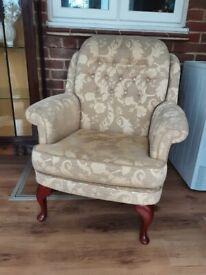 High Back Fireside Fabric Armchair