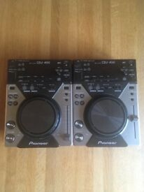Two CDJ 400's and Behringer Mixer & cables & free blank cd's