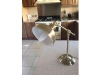 Stylish Brushed Gold-Effect Angle Poise Desk Lamp. Excellent Condition - Hardly Used.