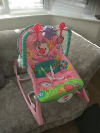 pink baby rocker
