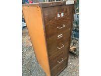 Vintage 4 drawer filing cabinet
