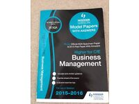 SQA Higher for CfE Business Management Model Papers and Pastpaper Textbook 2015-2016