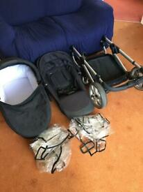 icandy apple 2 pear travel system pram pushchair carrycot etc