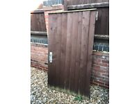 Wooden gate and posts