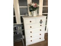 Tall Boy Chest Free Delivery in Ldn🇬🇧shabby Chic