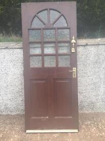 Oak solid exterior door