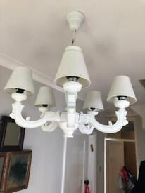 White x5 branch designer chandelier