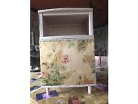 Lloyd Loom bedside cabinet painted in soft stone. A lovely solid sturdy piece