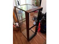 Glass Vivarium with heated light (can be used as fish tank)