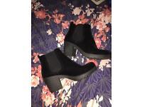 Gorgeous black suede boots