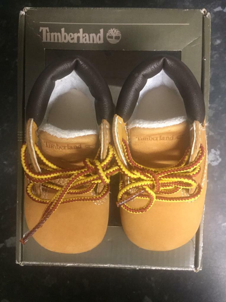 Baby infant crib timberland boots size 1.5 with box as new