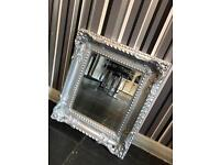 Small guilt effect shabby chic mirror 40x45cm