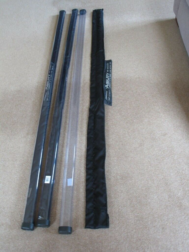 New Shakespeare Agility Specimen Rods. 12 feet, 2 sections, 2lb tc. New and unused