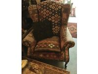 Large Antique Anatolian Kilim wing armchair. Gorgeous chair. Offers considered. Possible local.