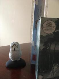 Cute Snowy Owl Porcelain Figure