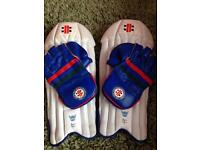 Boys Gray-Nicolls Wicket keeping pads and gloves