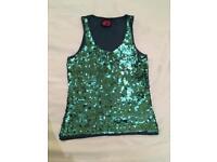 Sparkly vest top - size 8/10