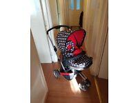 obaby 3 wheel pushchair