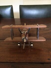 Wooden airplane in excellent condition
