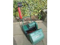 Electric Cylinder Lawnmower, Atco Windsor 14s, Power Driven