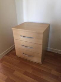 Beech bedside cabinets x 2