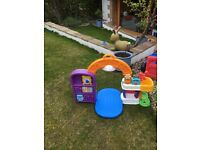 Selection of great garden toys- slide, playhouse and more