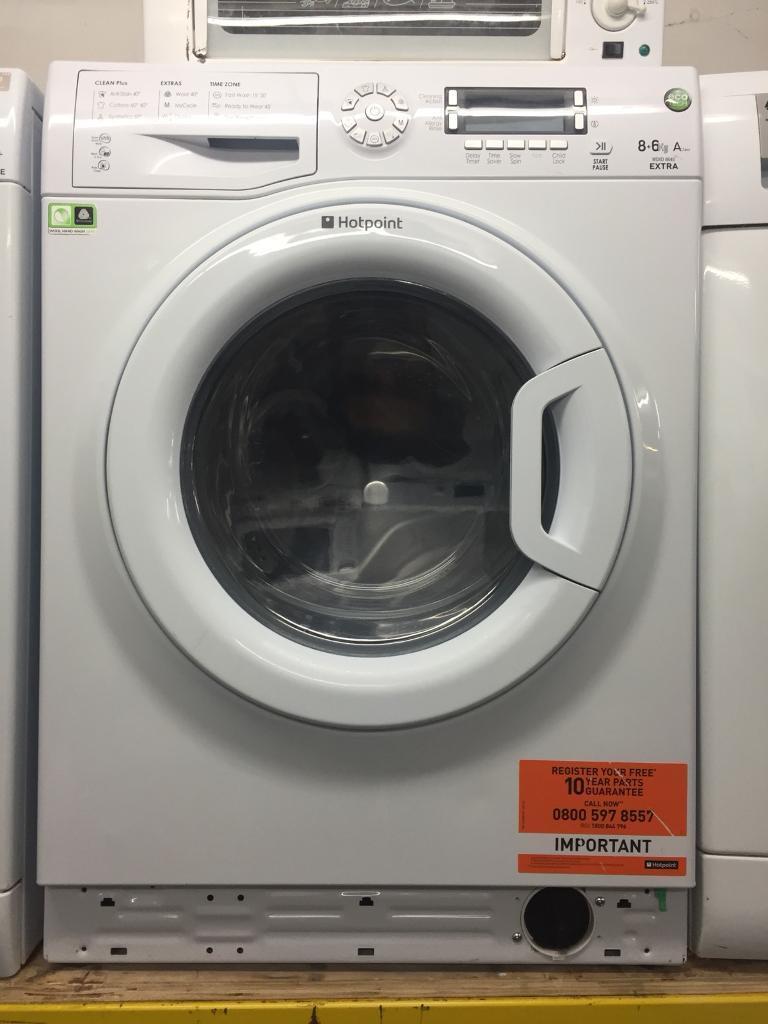 Hotpoint white good looking 9kg 1400spin washing machine