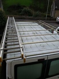 Ford Transit Aiko Design 6 bar Modular Roof Rack with Rear Roller