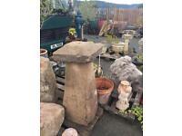 Vintage Saddle stone garden mushroom