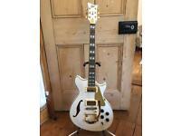 *AS NEW* 2012 ESP LTD Xtone PC-2V Semi-Hollow Guitar - Pearl White
