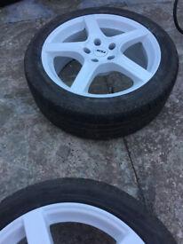 """Vauxhall astra calibra combo corsa meriva vectra zafira Saab 9-3 9-5 Alloy wheels 17"""" inch alpha"""