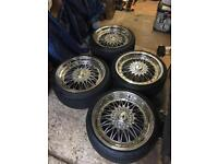 Genuine Japanese Racing 9 Chrome 18inch Alloy Wheels