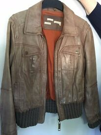 Ladies leather jacket from River Island - size 16.
