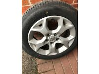"16"" snowflake alloy wheels with new 205/55/16 tires"