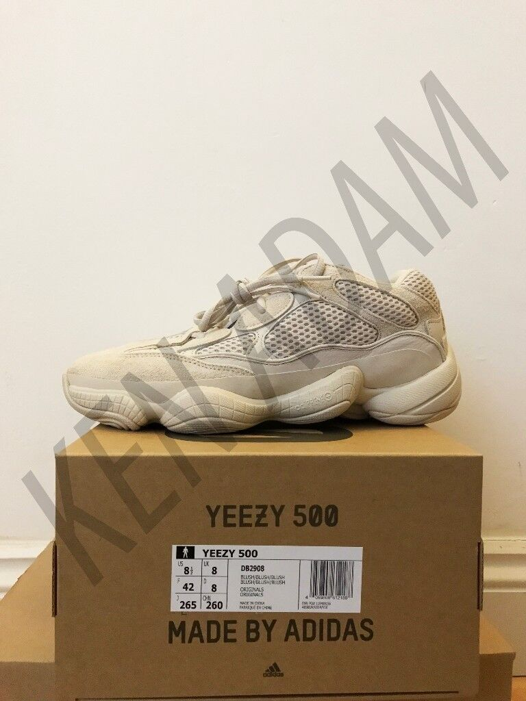 1ecc1ac5d 100% Authentic Adidas Yeezy Desert Rat 500 Blush UK 8